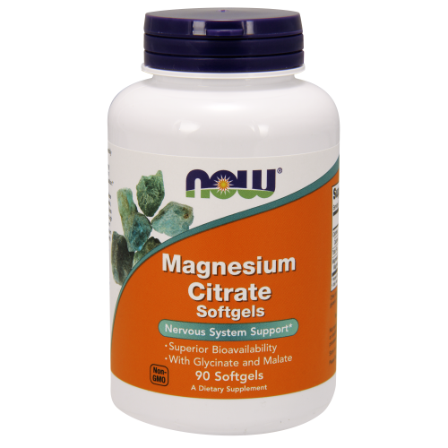 NOW FOODS -Magnesium Citrate - 90 Softgels