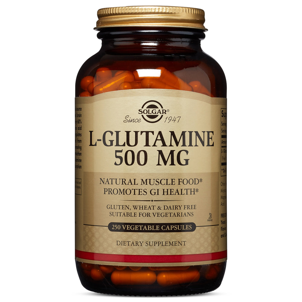 solgar l glutamine 500 mg vegetable capsules 250