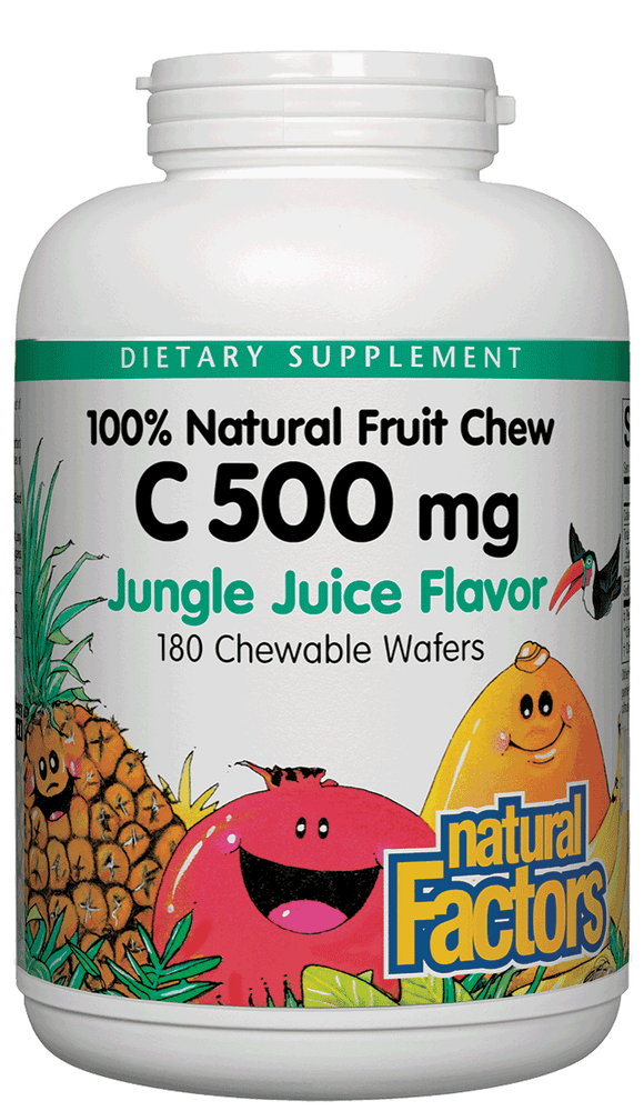 Natural Factors-C 500 mg Natural Fruit Chews Jungle Juice 180 TAB