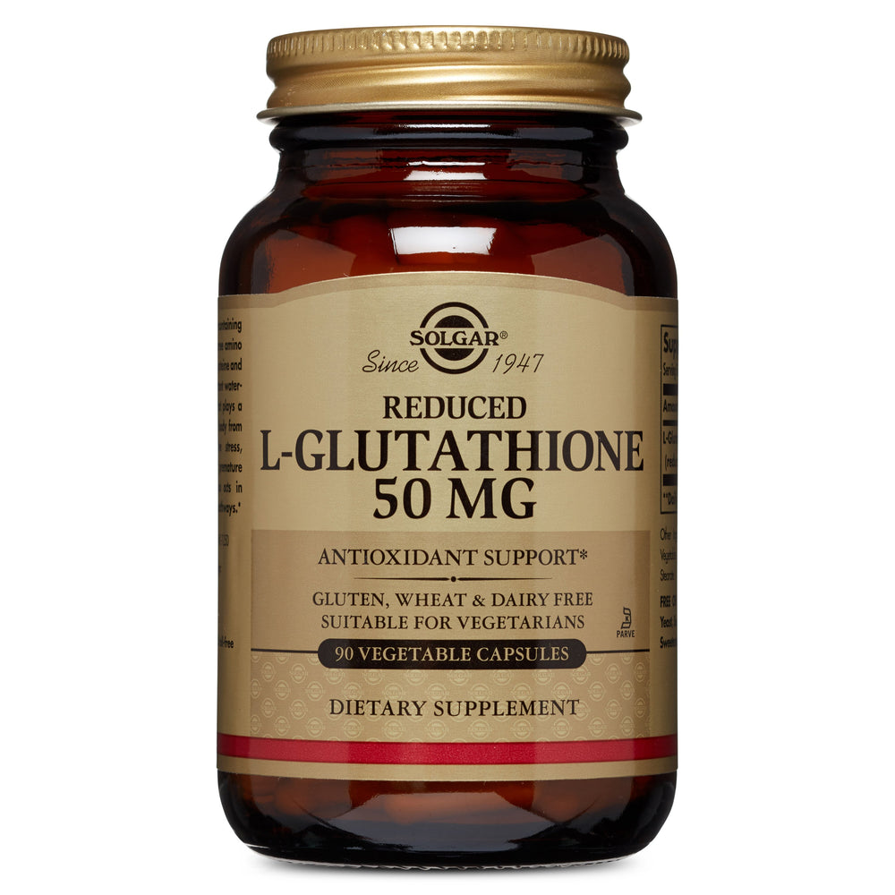 Solgar- Reduced L-Glutathione 50 mg Vegetable Capsules- 90