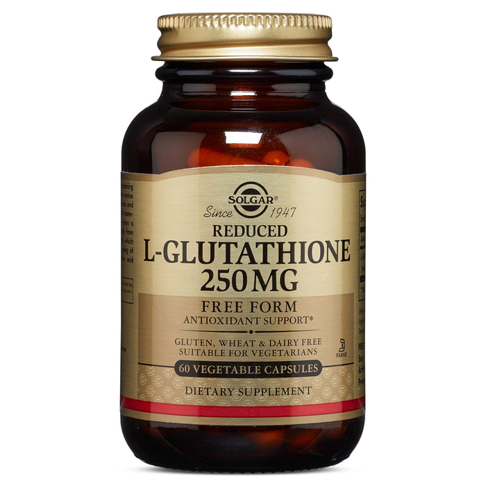 solgar reduced l glutathione 250 mg vegetable capsules 60