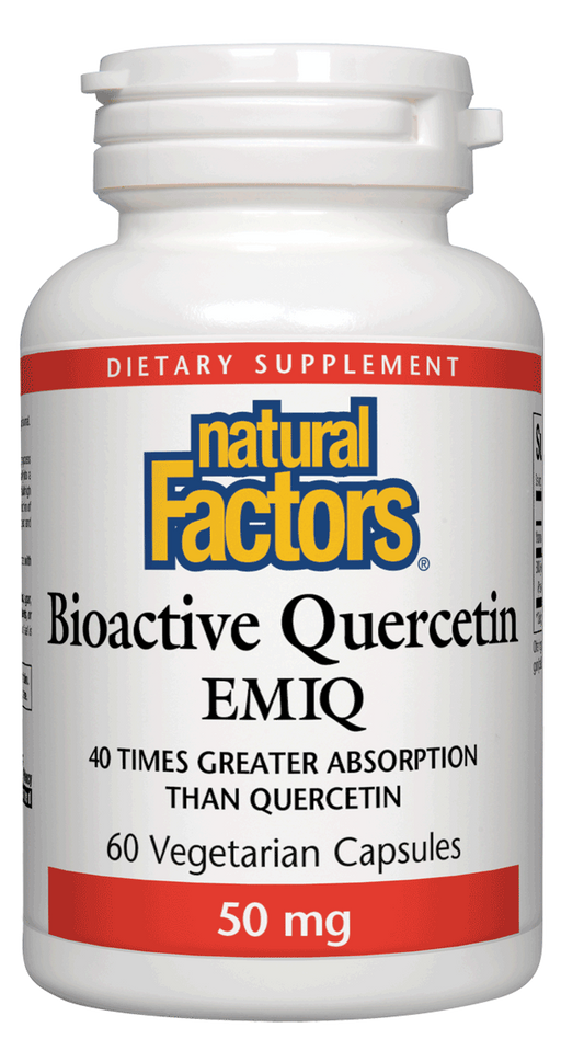 Natural Factors-Bioactive Quercetin EMIQ 50 mg 60 VCAP