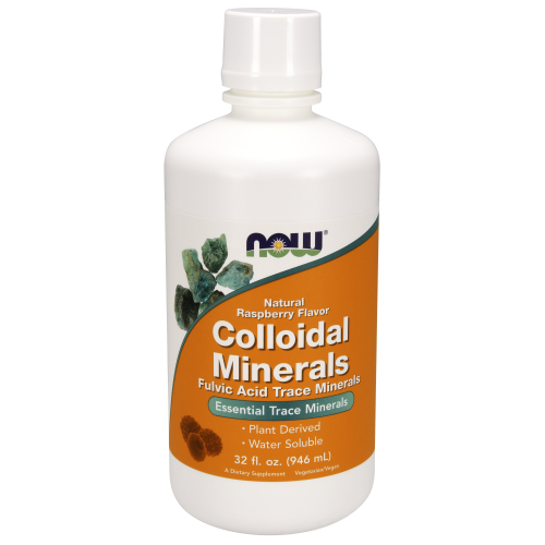 NOW FOODS -Colloidal Minerals Raspberry - 32 oz.
