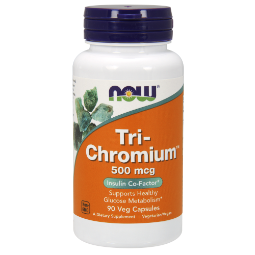 NOW FOODS -Tri-Chromium™ 500 mcg with Cinnamon - 90 Veg Capsules