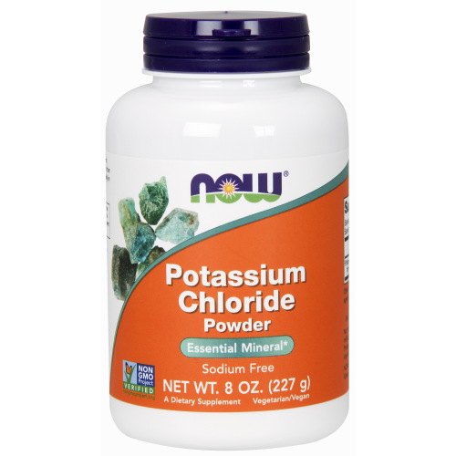 NOW FOODS -Potassium Chloride Powder - 8 oz