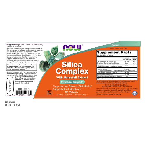 NOW FOODS -Silica Complex - 90 Tablets