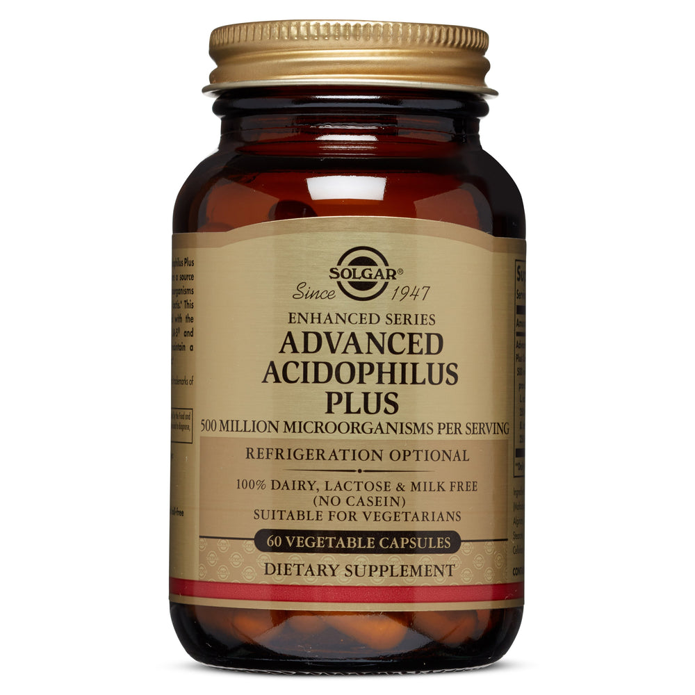 solgar advanced acidophilus plus vegetable capsules 60