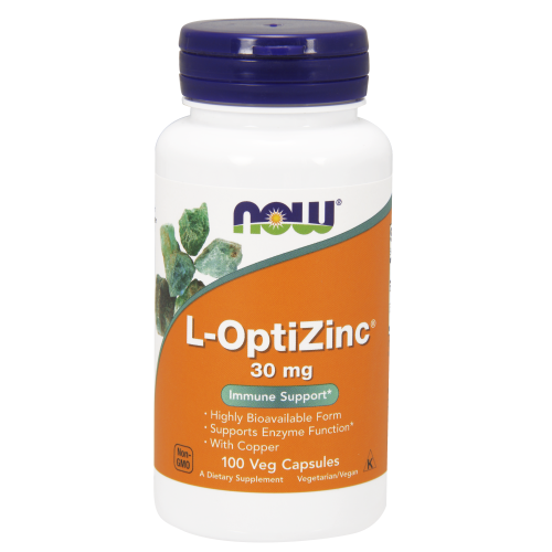 NOW FOODS -L-OptiZinc® 30 mg - 100 Veg Capsules