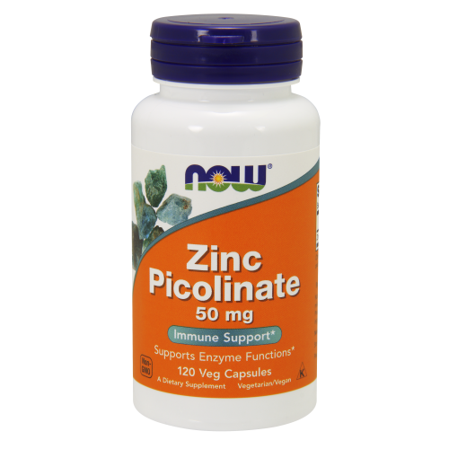 NOW FOODS -Zinc Picolinate 50 mg - 120 Veg Capsules