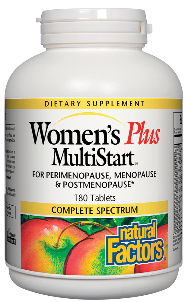 Natural Factors-MultiStart® Women's Plus for perimenopause & menopause conditions 180 TAB
