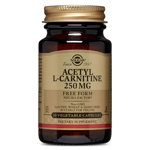 Solgar- Acetyl L-Carnitine 250 mg Vegetable Capsules- 30