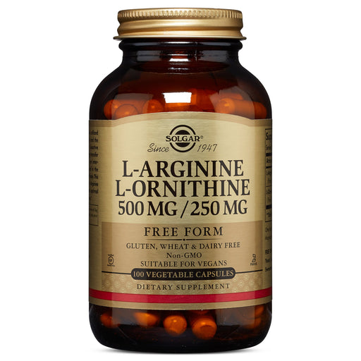 Solgar- L-Arginine/L-Ornithine 500/250 mg Vegetable Capsules- 100