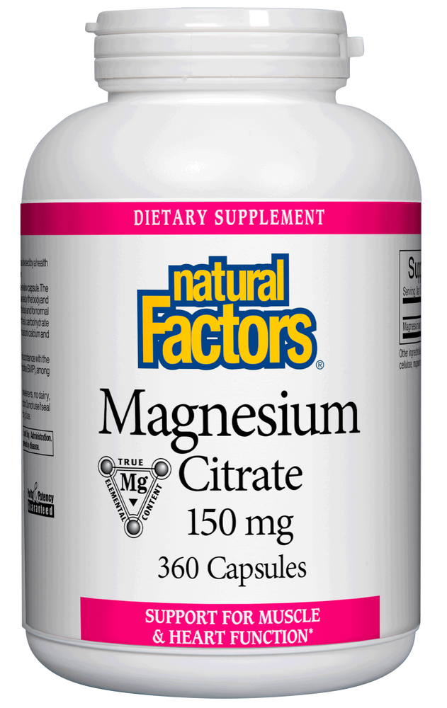 Natural Factors-Magnesium Citrate 150 mg 360 CAP