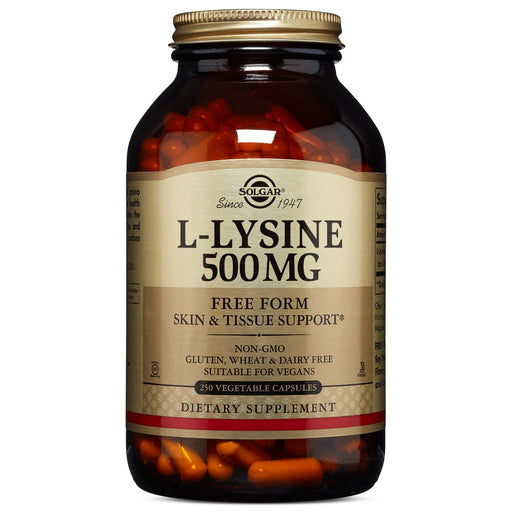 Solgar- L-Lysine 500 mg Vegetable Capsules- 250