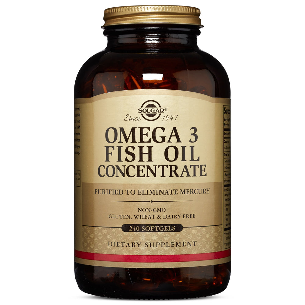 Solgar- Omega-3 Fish Oil Concentrate Softgels- 240