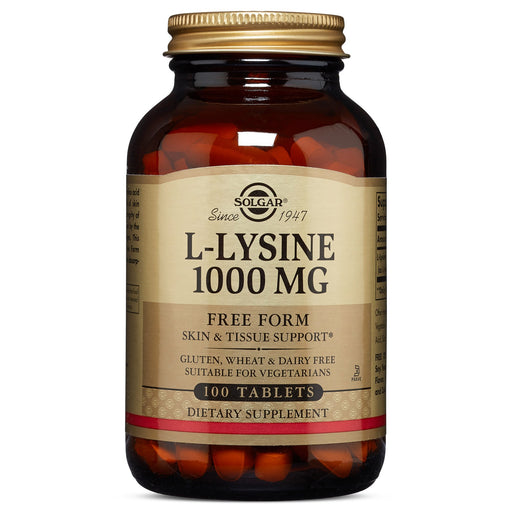 Solgar- L-Lysine 1000 mg Tablets- 100
