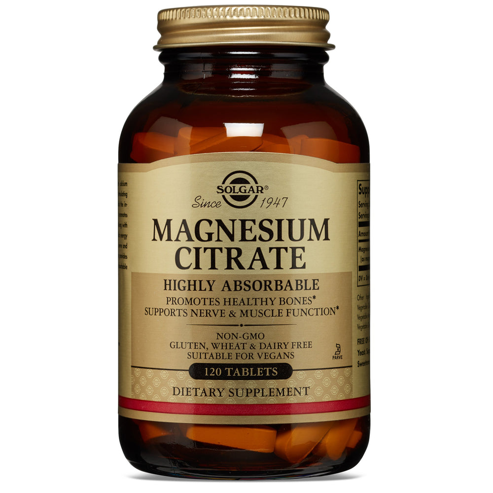 Solgar- Magnesium Citrate Tablets- 120