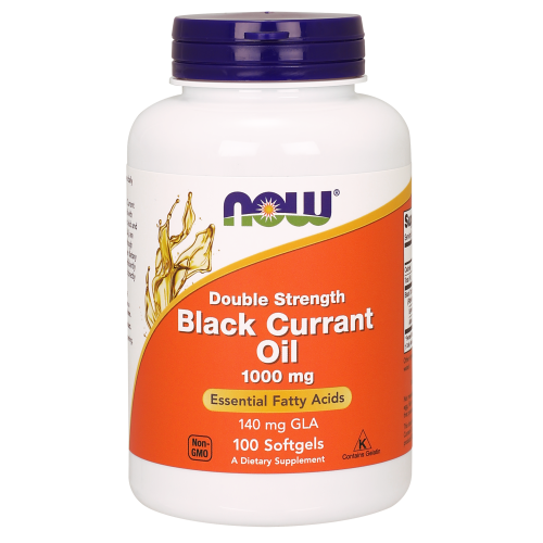 NOW FOODS -Black Currant Oil 1000 mg Double Strength - 100 Softgels