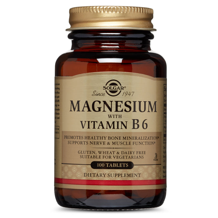 Solgar- Magnesium with Vitamin B6 Tablets- 100