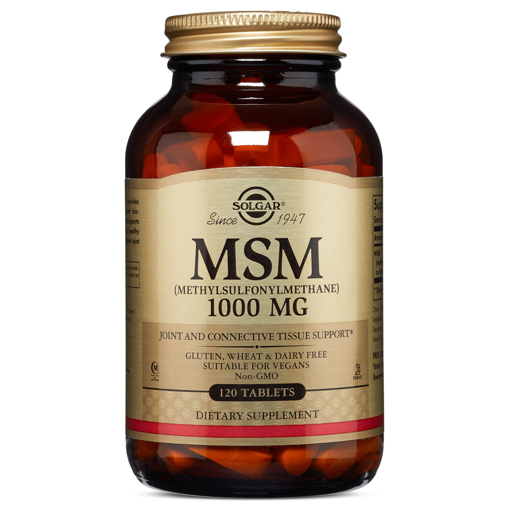 solgar msm 1000 mg tablets 120