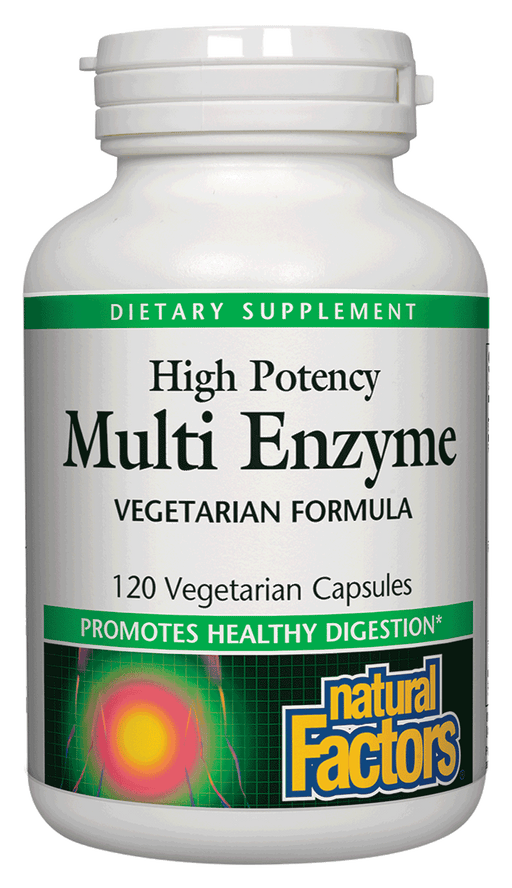 Natural Factors-High Potency Multi Enzyme Vegetarian Formula 120 VCAP
