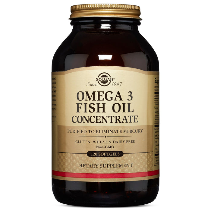 solgar omega 3 fish oil concentrate softgels 120