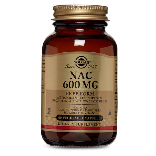Solgar- NAC 600 mg Vegetable Capsules- 60