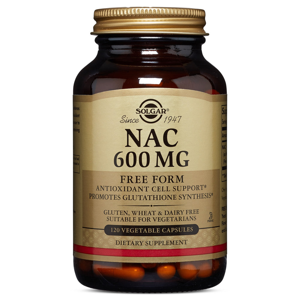 Solgar- NAC 600 mg Vegetable Capsules- 120