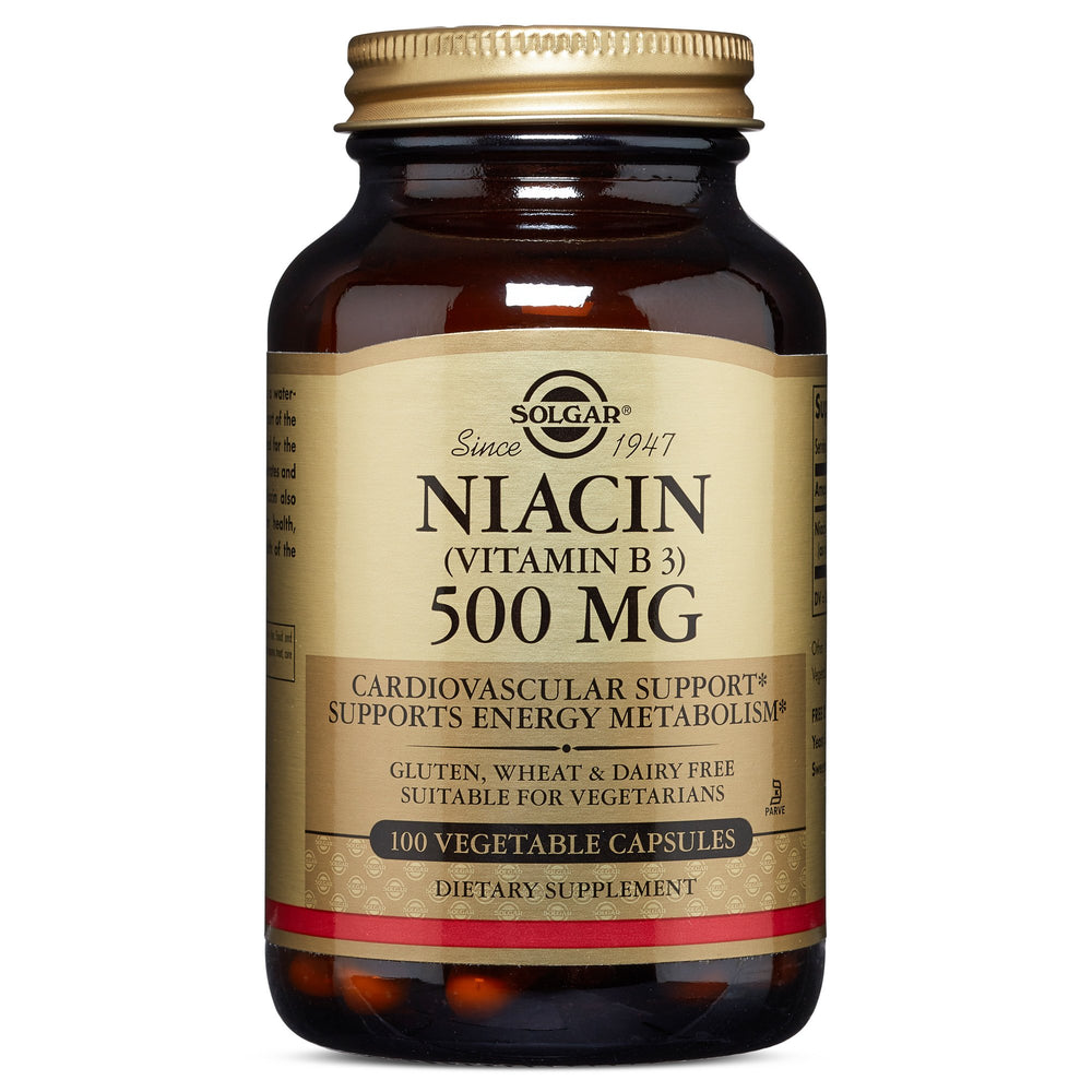 Solgar- Niacin (Vitamin B3) 500 mg Vegetable Capsules- 100