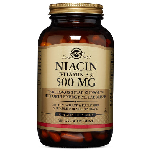 Solgar- Niacin (Vitamin B3) 500 mg Vegetable Capsules- 250
