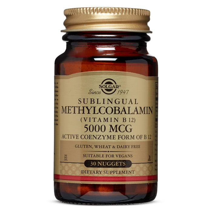 Solgar- Methylcobalamin (Vitamin B12) 5000 mcg Nuggets- 30