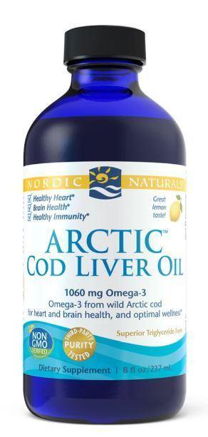 Nordic Naturals - Arctic Cod Liver Oil – lemon 8 oz - Highland Health Foods