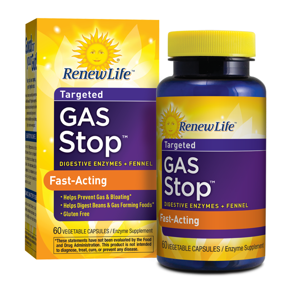 Renew Life - Gas Stop, Enzyme Supplement - 60 Vegetable Capsules