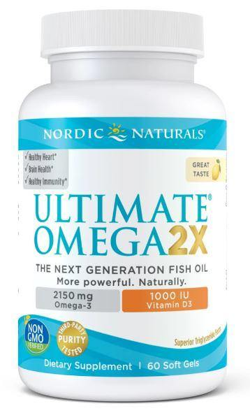 Nordic Naturals - Ultimate Omega 2x with D3 - lemon 60 ct