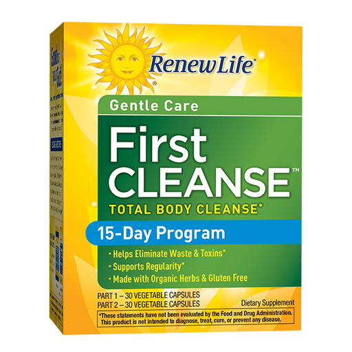 Renew Life - First Cleanse Total Body Cleanse, Gentle Care 2 Part, 15-Day Program 60ct
