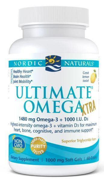 Nordic Naturals - Ultimate Omega Xtra – lemon 60 ct - Highland Health Foods
