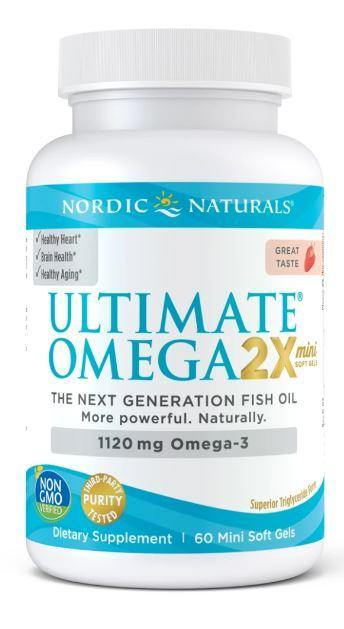 Nordic Naturals - Ultimate Omega Minis – strawberry 60 ct