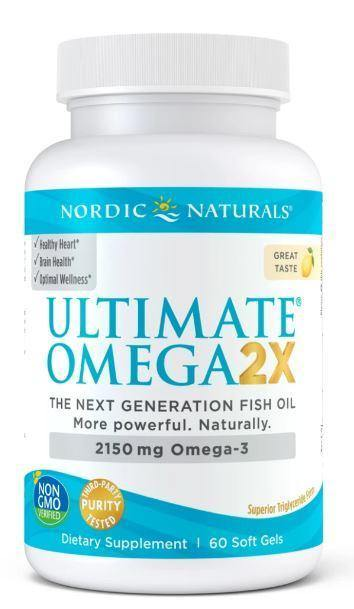 Nordic Naturals - Ultimate Omega 2x - lemon 60 ct