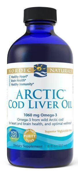 Nordic Naturals - Arctic Cod Liver Oil – unflavored 8 oz - Highland Health Foods
