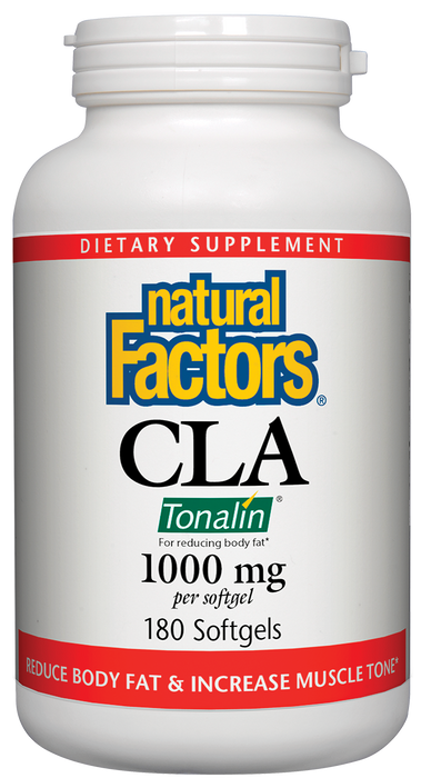 Natural Factors-CLA Tonalin® Linoleic Acid 1,000 mg 180 SG