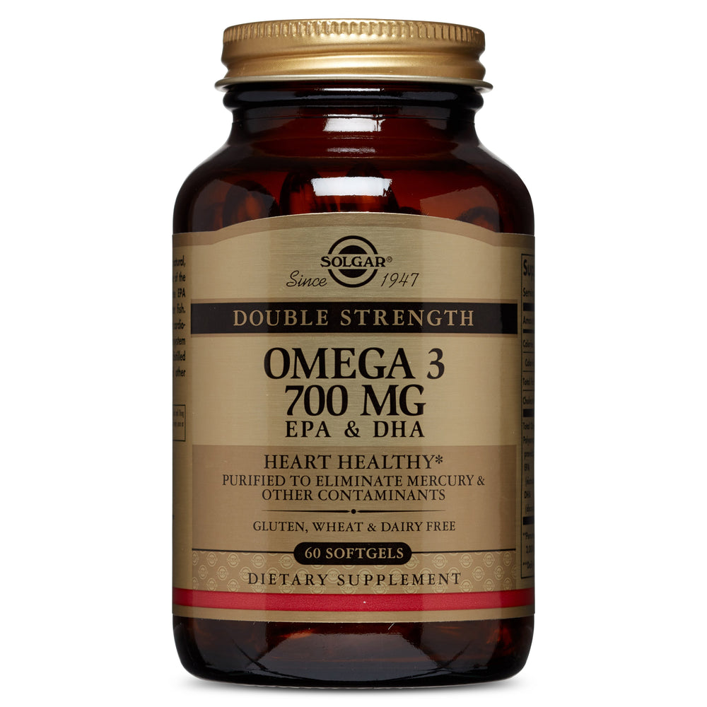 Solgar- Double Strength Omega-3 700 mg Softgels- 60