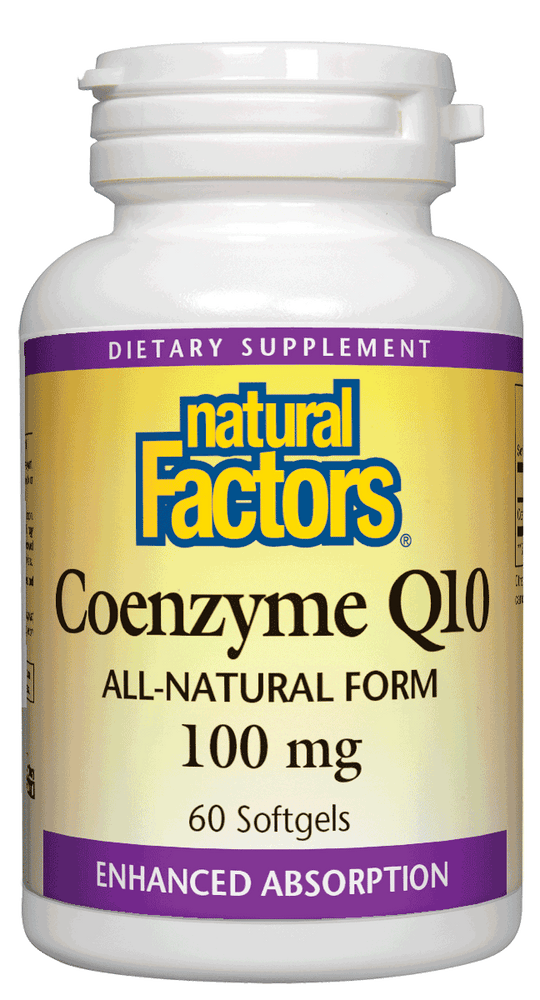 Natural Factors-Coenzyme Q10 100 mg 60 SG