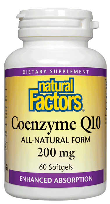 Natural Factors-Coenzyme Q10 200 mg 60 SG