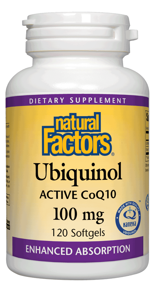 Natural Factors-Ubiquinol Active CoQ10 100 mg 120 SG