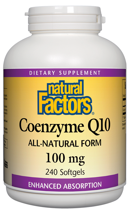Natural Factors-Coenzyme Q10 100 mg In a base of rice bran oil 240 SG