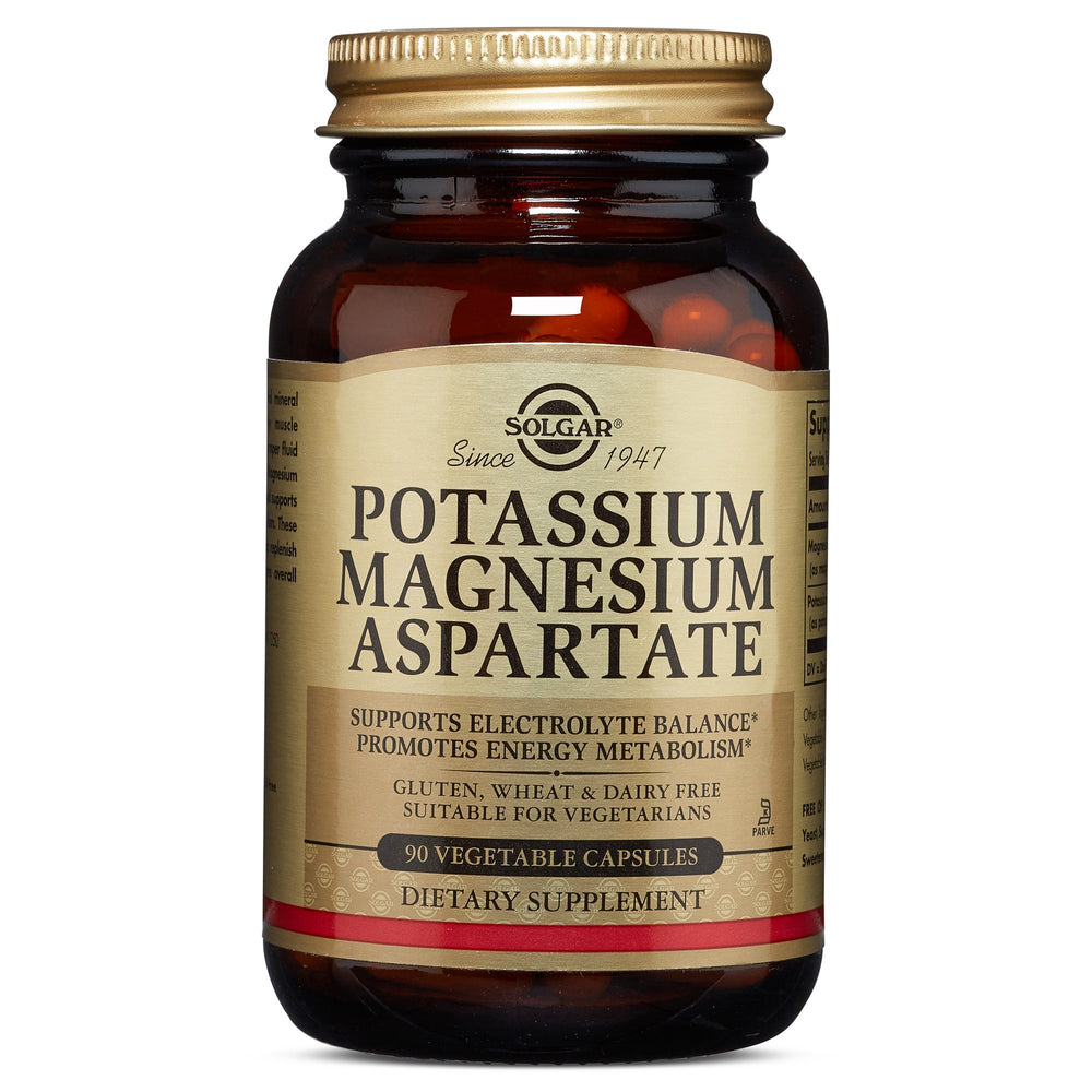 Solgar- Potassium Magnesium Aspartate Vegetable Capsules- 90