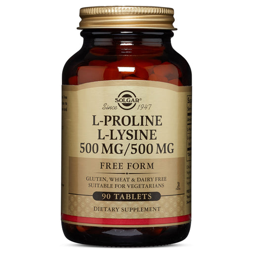 Solgar- L-Proline/L-Lysine Tablets (500/500 mg)- 90