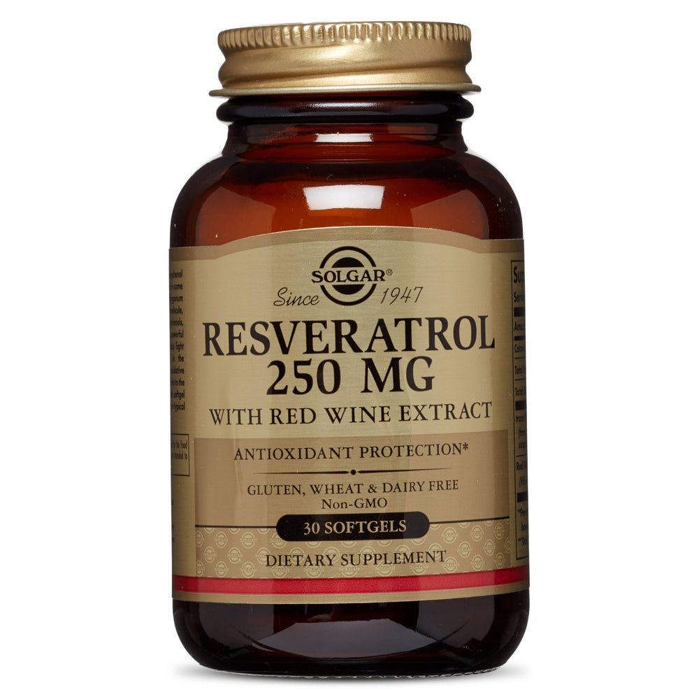 Solgar- Resveratrol 250 mg with Red Wine Extract Softgels- 30
