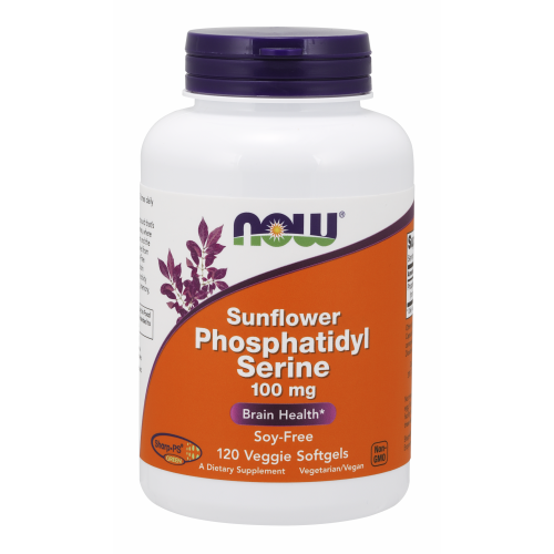 NOW FOODS -Sunflower Phosphatidyl Serine 100 mg - 120 Veggie Softgels