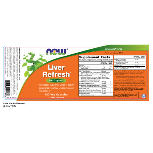 NOW FOODS -Liver Refresh™ - 180 Veg Capsules